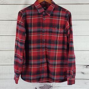 O'Neill • S shirt flannel plaid pocket red
